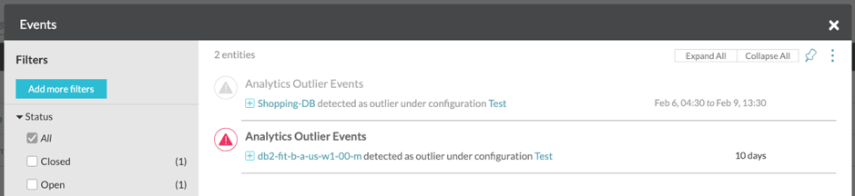 Outlier alerts