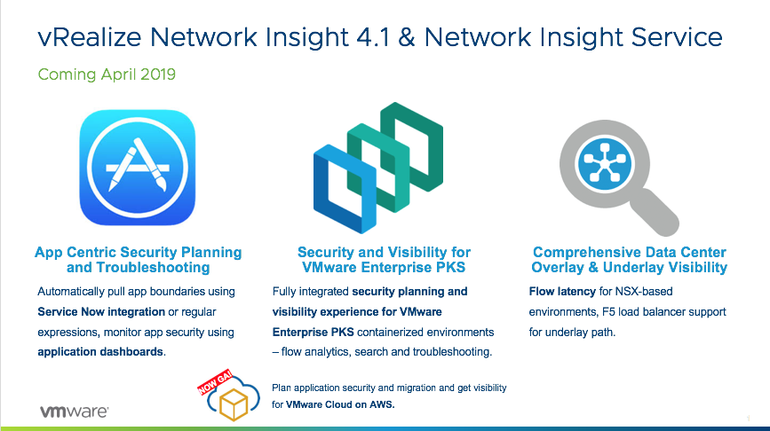 vRealize Network Insight 4.1