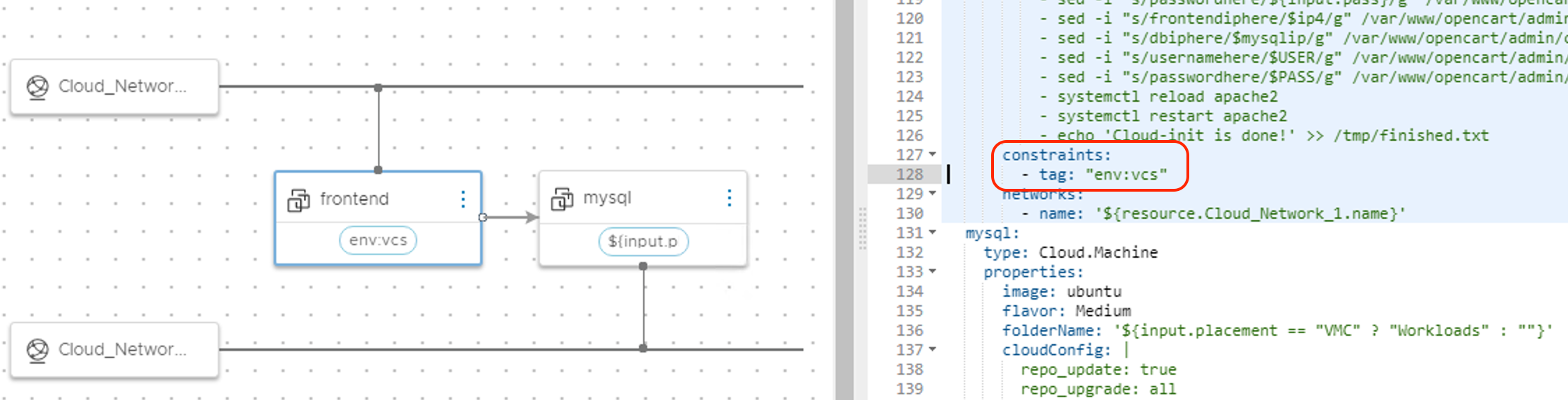 Cloud Assembly constraint tags.