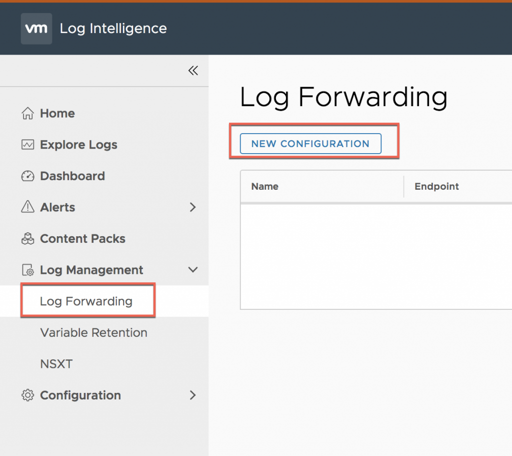 Filter and Forward VMware Cloud on AWS events from Log
