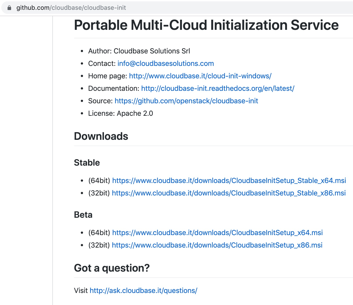 Portable Multi-Cloud Initialization Service