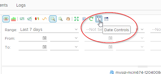 Recommend you set the date controls to the same time range for easier viewing