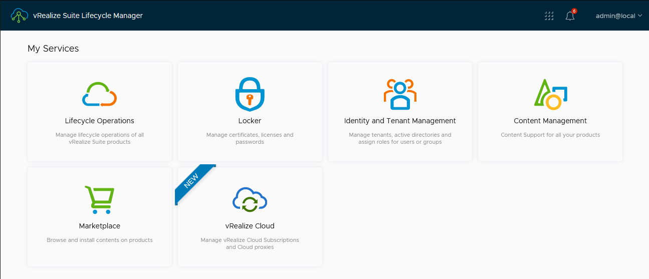 A new service card appears in vRealize Lifecycle Manager 8.6 to help you manage vRealize Cloud SaaS subscriptions and proxies