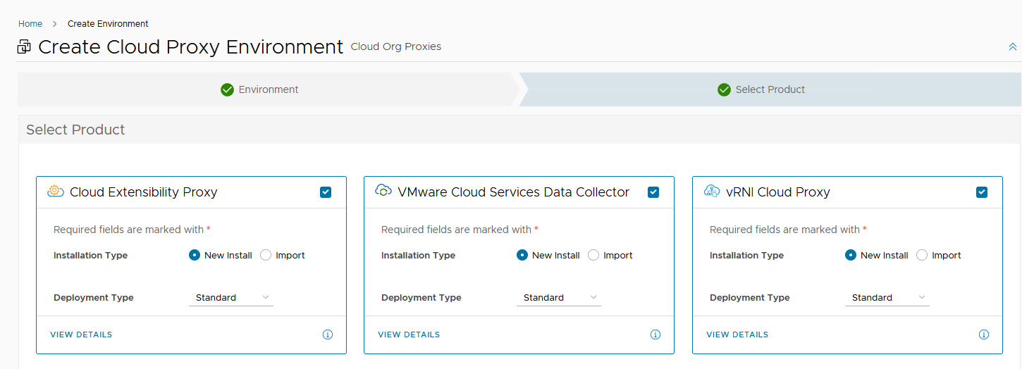 Creating a new Cloud Proxy environment in vRealize Suite Lifecycle Manager 8.6